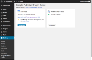 Adsense wordpress plugin